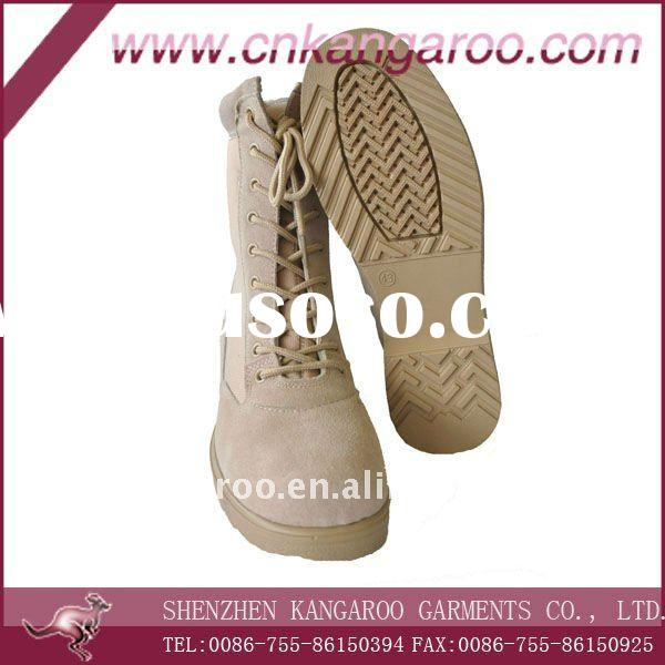 full leather high quality military desert boots
