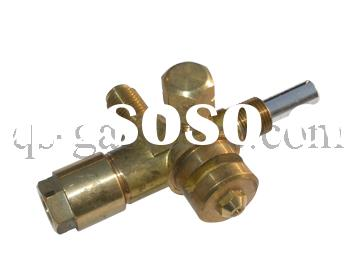 gas brass valve with safety device for heater