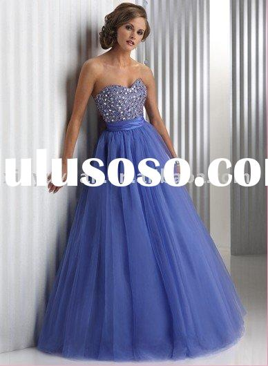 glitz and glamour sweetheart neckline bule ball gown MAE-008
