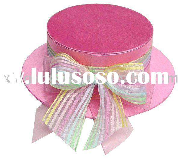 hat shaped candy packing box