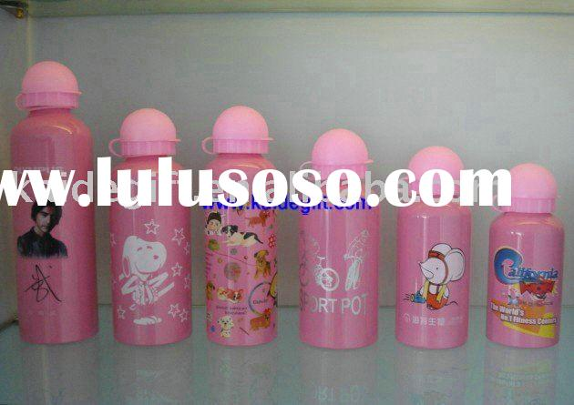 heat transfer printing kids aluminum water bottle(SGS,TUV, FDA ,BPA, CE/EU,LFGB)