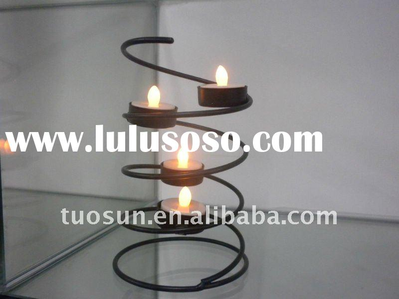 helix holder with tealight led candles