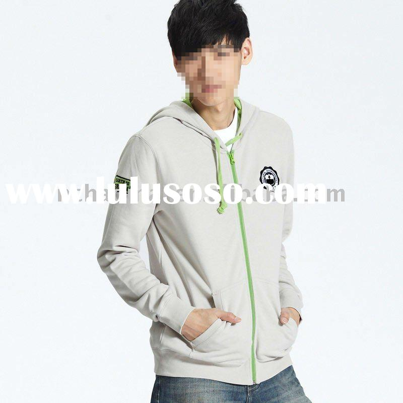 high quality men's fashion hooded sweatshirt with embroidery