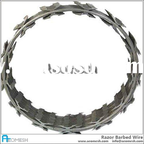 high security razor barbed wire/hot-dipped galvanized razor wire