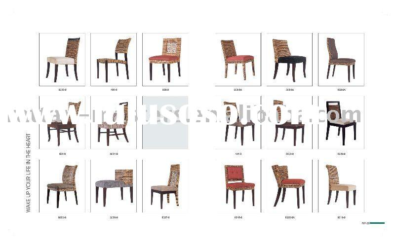 hot sale low price natural rattan dining chair