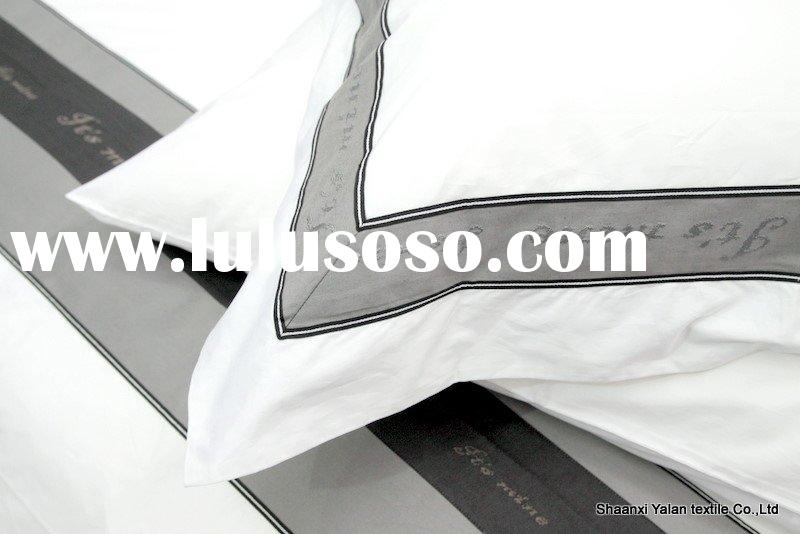 hotel embroidery bedding sets,sheets,pillow case,bed cover