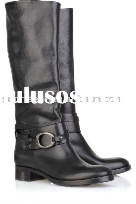 knee high leather motorcycle boots