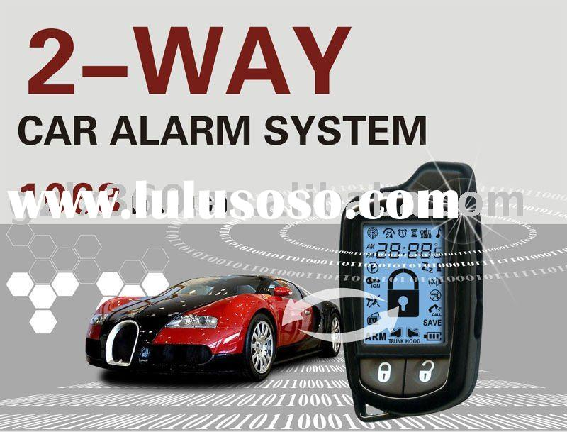 lastest two way car alarm system with five keys' remote control