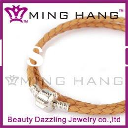 leather cord used pandora clasp