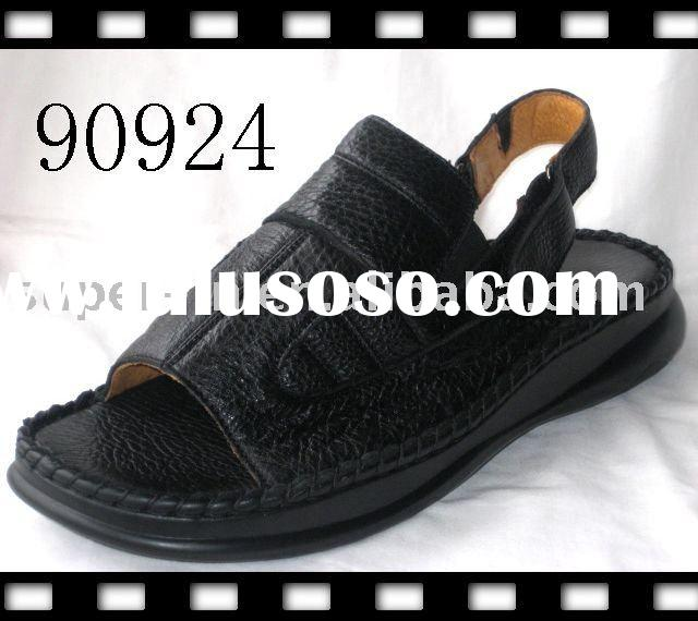 leather men slippers/comfort sandals /men's sandals/sandal /shoes/ men sandal / men slipper/