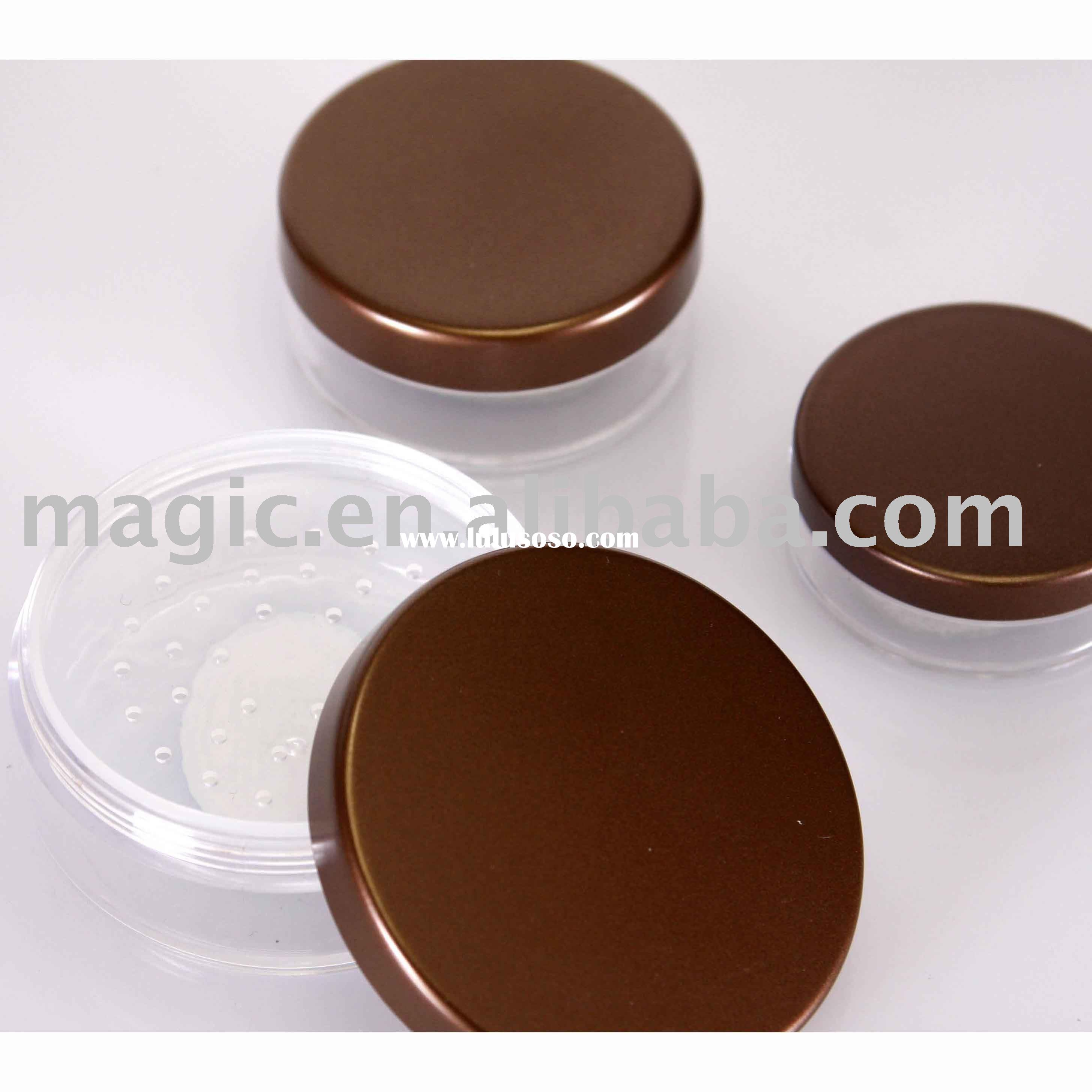 makeup loose powder case with sifter in the jar