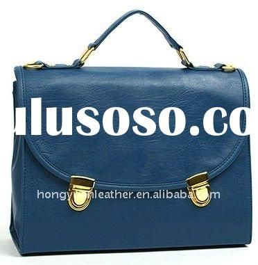 new vintage style faux leather shoulder tote hand bag purse