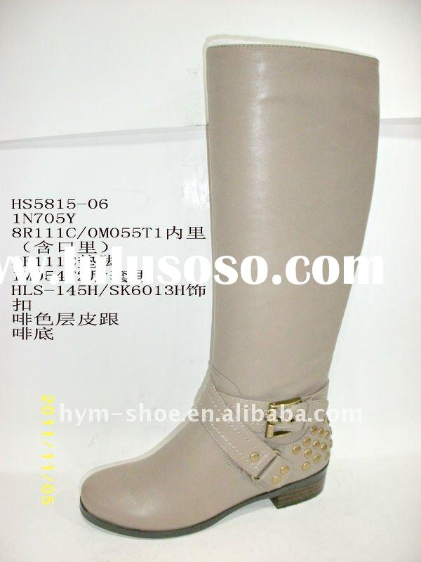 newest fashion woman leather boot 2012