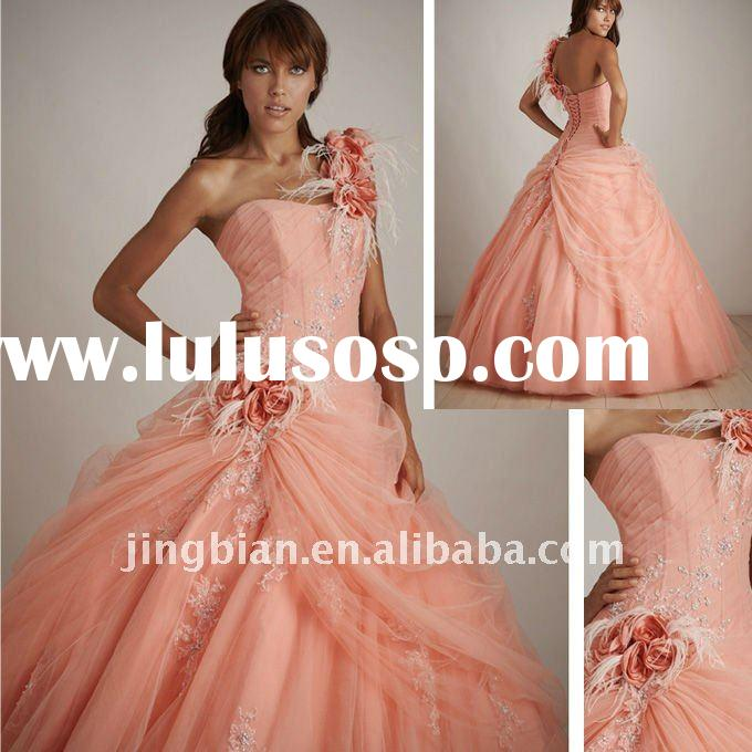 orange pink Sweetheart Ball gown Allure Quinceanera Dresses Wedding Dress SH336