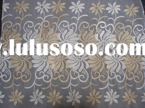 organza voile embroidery curtain(polyester voile,curtain voile)