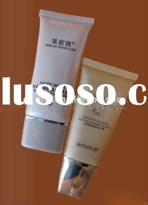 oval plastic tube for cosmetic packaging