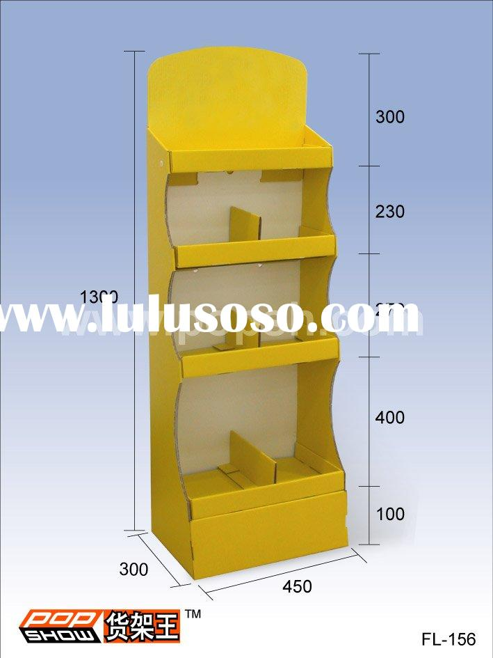 Cardboard counter display pop point of purchase display for Point of sale display template