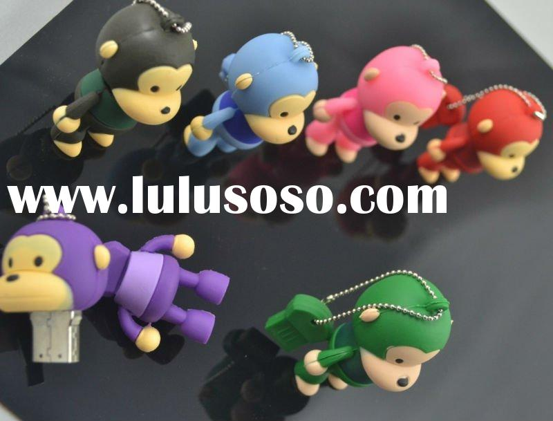 private customized PVC monkey USB Flash Memory Disk gift USB