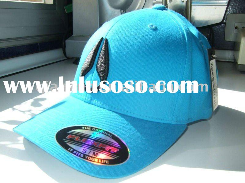 spandex cotton custom 3D embroidery flex fit baseball cap