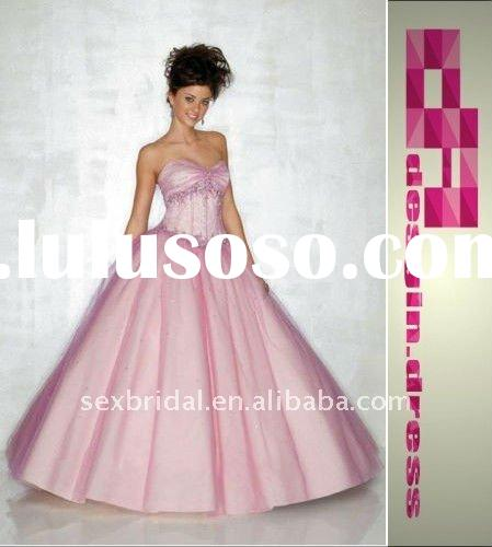 special hot style in stock blue pink strapless sweetheart neckline tulle taffeta embroidery evening