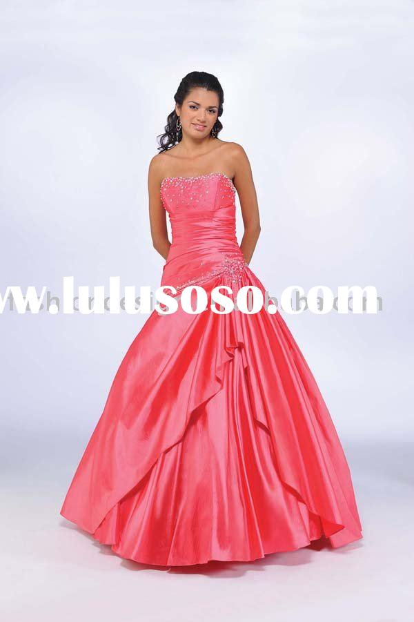 unique coral satin beaded prom dresses,evening dresses,formal party dresses,evening gowns xdz140