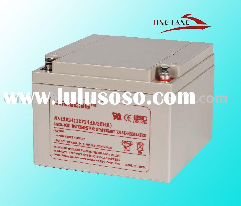 vrla battery 12v24ah, agm deep cycle, gel battery