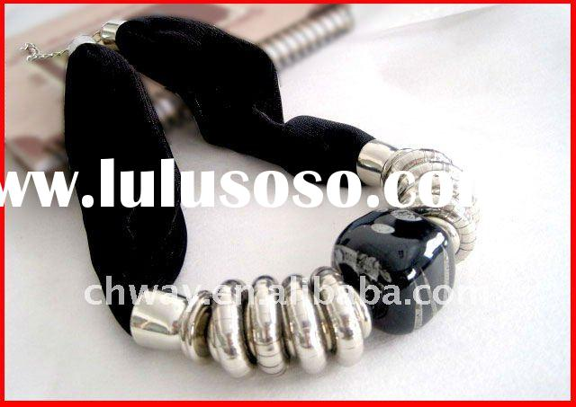 wholesale fashion scarf necklace various colors environmental