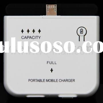 1000mAh Micro USB Portable Battery Charger for HTC,For BlackBerry,For Motorola RAZR2 V8 etc