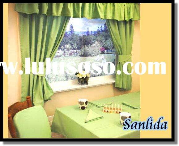100% polyester inherently fire retardant fabric for table cloth