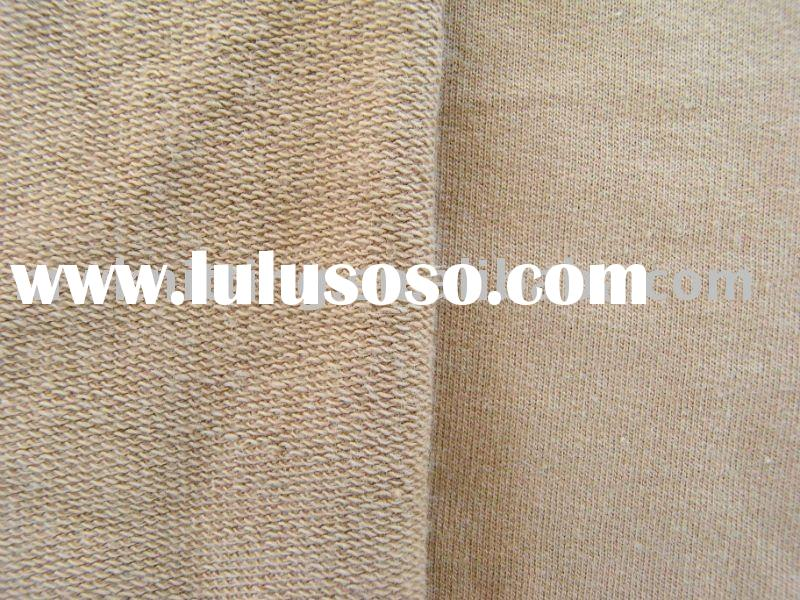 100% polyester weft-knit French Terry fabric