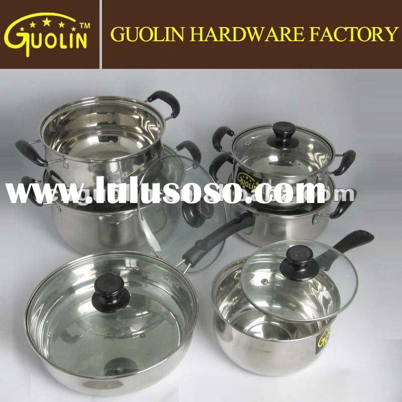 12 Pcs Stainless Steel Houseware/Cookware Set