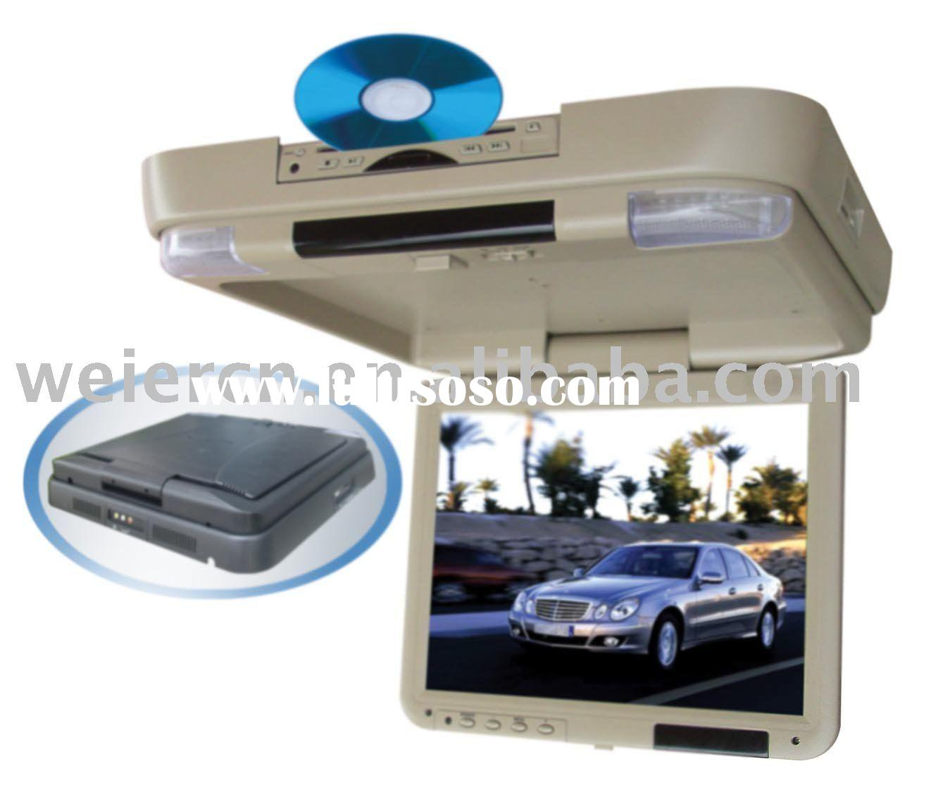 """15.3"""" car DVD player Flip Down LCD Monitor with USB port & SD card reader"""