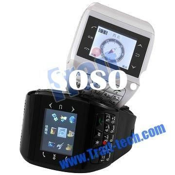 1.4 inch Quadband Dual Sim Dual Standby Watch Mobile Phone with build-in 2GB TF card(Q9)