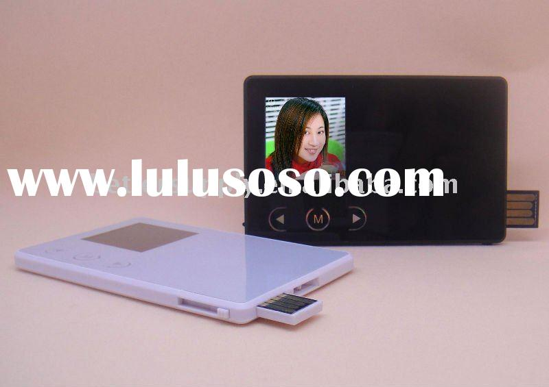 "1""usb photo frame clock with rechargable battery"