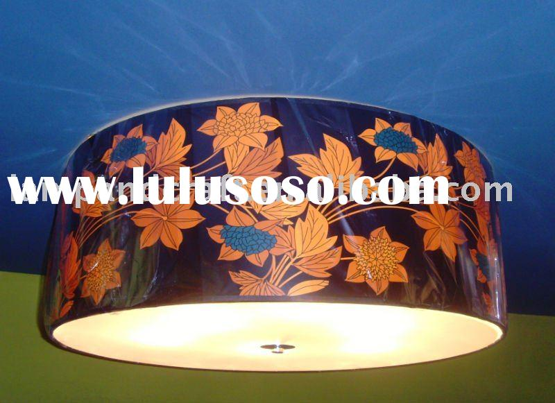 2011 Best Selling Arabian Fabric suspended ceiling lighting With Acrylic Diffuser MOQ20pcs Accepted