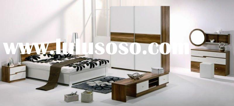 2011 Milan trend contemporary modern white bedroom furniture set