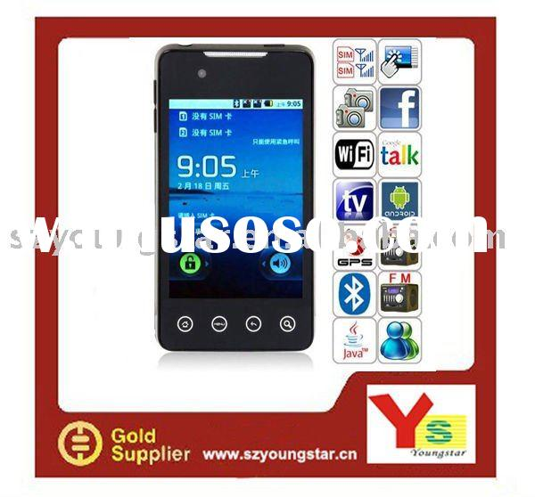 2011 new Dual sim cards Android 2.2 GPS WIFI TV mobile phone A9000(G9)