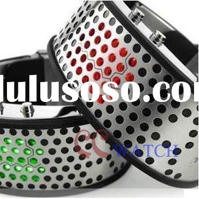 2011 new Novelty watches steel strap LED watch