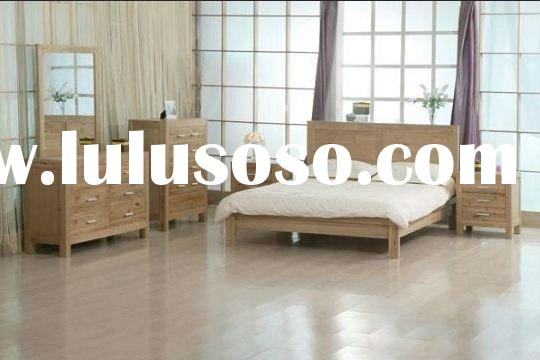 2011 new cheap IKEA style solid wood wooden bedroom furniture set double bed king bed