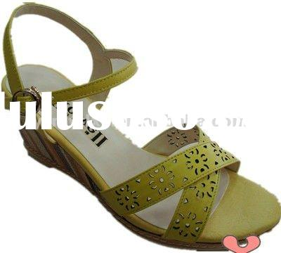 2012 new design name brand woman wedge shoes ladies sandals