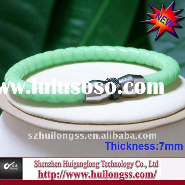 2012 new style stainless steel silicone bracelet