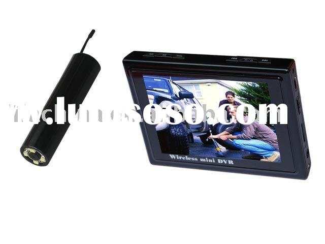 """2.4GHz wireless Camera and receiver high quality camera with LED night vision+3.5""""LCD instant v"""