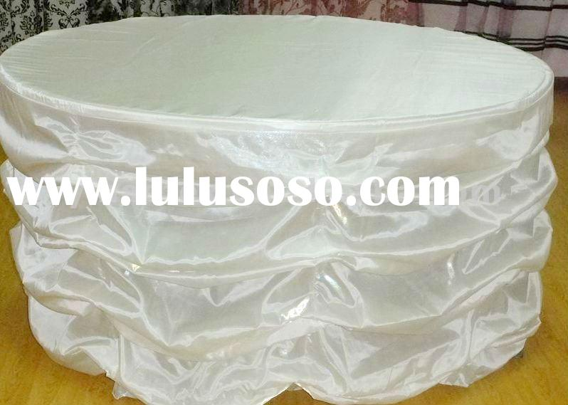 30%Nylon70%Polyester wedding/party popular plain dyed shimmer cake table cloth/table linen