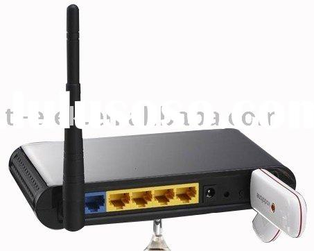 3G wireless router compatible with USB modem Slot and 4 Lan ports