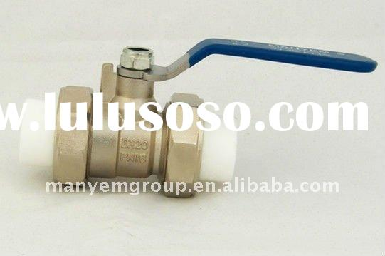 """3/4"""" Full Port Brass Valve with PP-R Connection"""