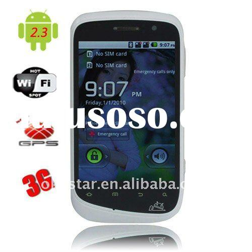 3.5 inch capacitive touch screen 3g wifi GPS dual sim Android 2.3 mobile phone A101