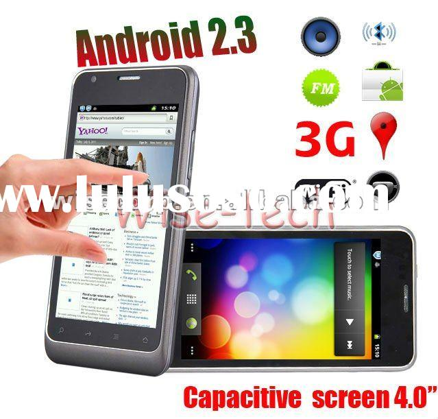 """4.0"""" Capacitive Multi-touch Screen 3G WCDMA + Google Android 2.3 Smart Phone WiFi GPS Dual Sim"""