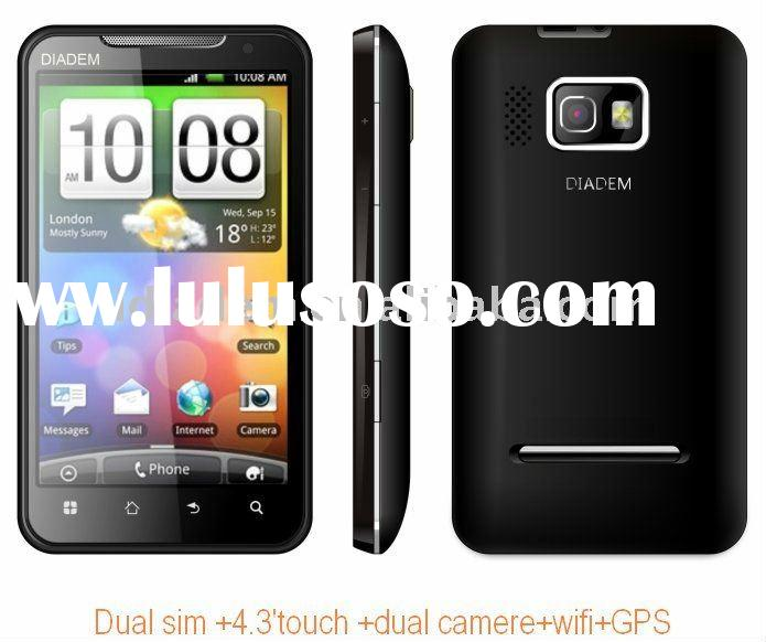 4.3 inch capacitive touch screen 3g wifi dual sim android gps mobile phone