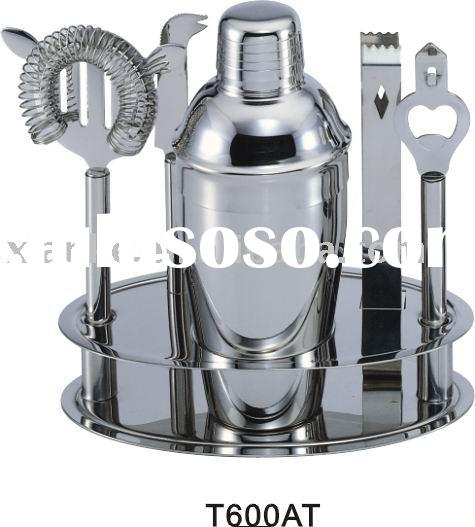 6-piece Stainless Steel Wine Accessories Gift Set with 500ml shaker