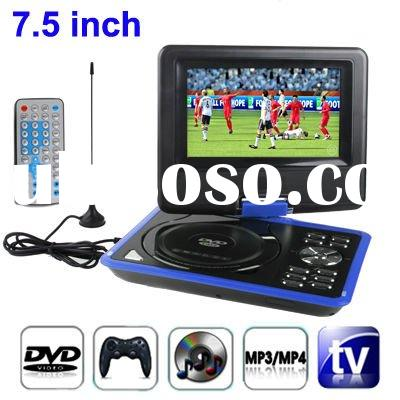 7.5 inch TFT LCD Screen Digital Multimedia Portable DVD with Card Reader & USB Port